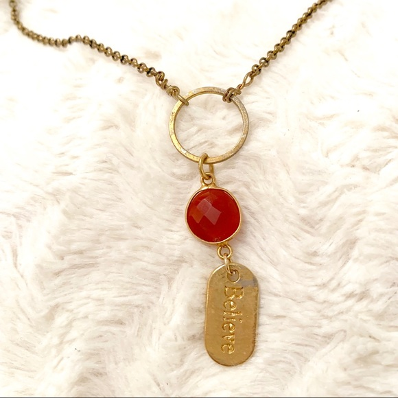 "Jewelry - One of a Kind ""BELIEVE"" Necklace"